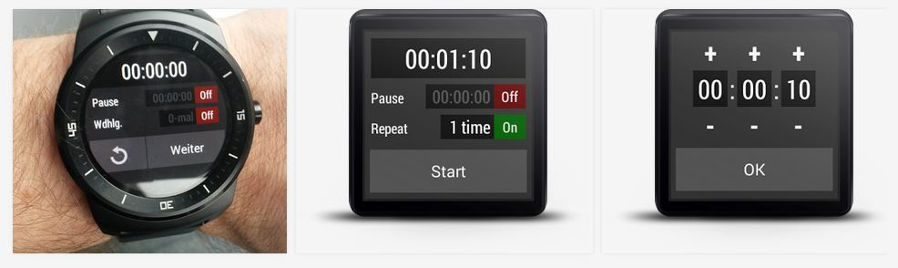 Interval Timer En İyi Android Wear Uygulamaları