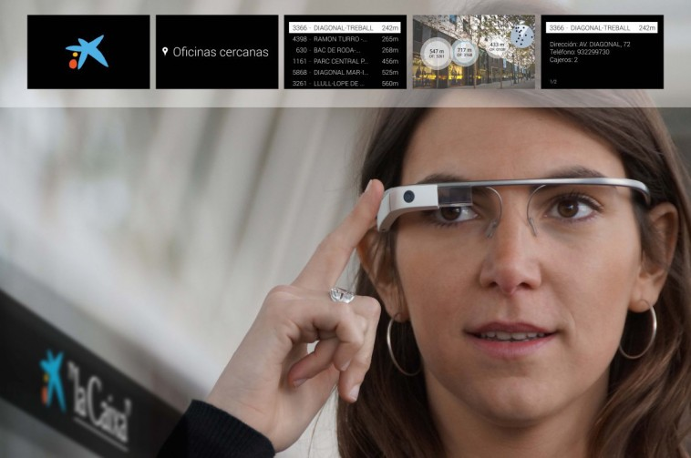 image of the app created by -la caixa- for google glass (1)