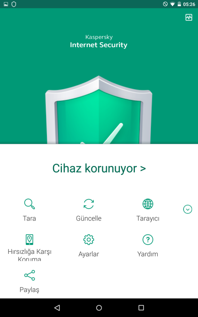 Kaspersky Internet Security for Android Planlı Tarama 1