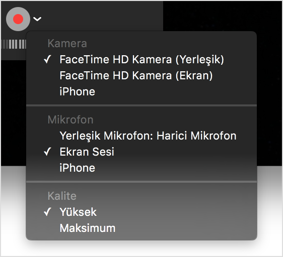 Mac OS X ile iPhone Ekran Kaydı Almak