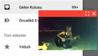 Android YouTube'da Video İzlerken İnternette Gezinme