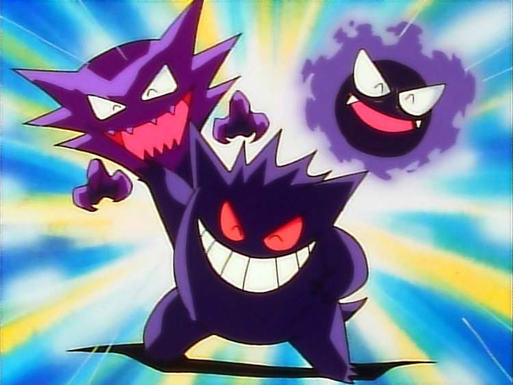 Haunter, Gastly, ve Gengar