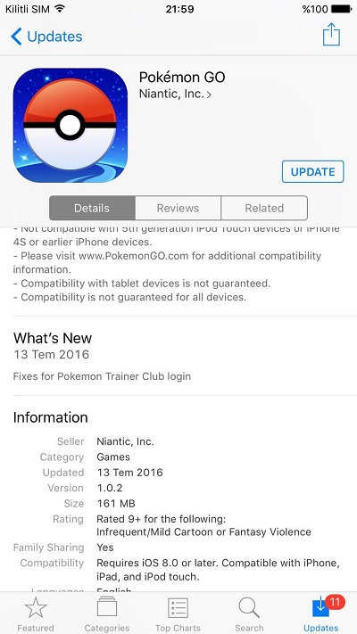 pokemon go 1.0.2
