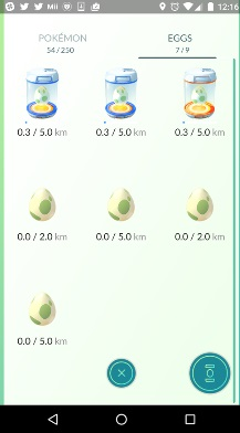 pokemon go yumurtalar eggs