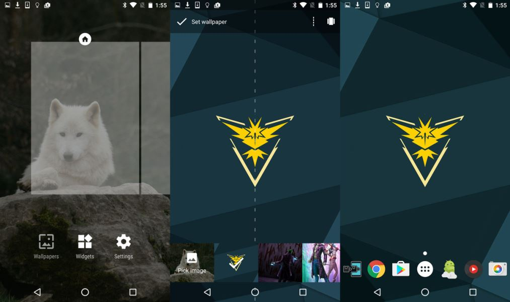 Android Pokemon GO Team Instinct Teması 1
