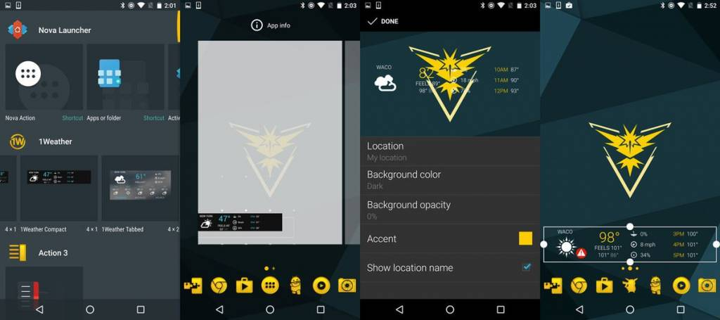 Android Pokemon GO Team Instinct Teması 3