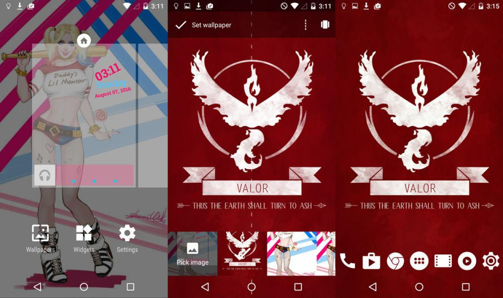 Android Pokemon GO Team Valor Teması 1