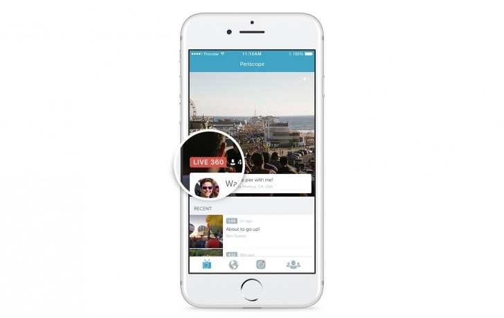 twitter periscope 360 video