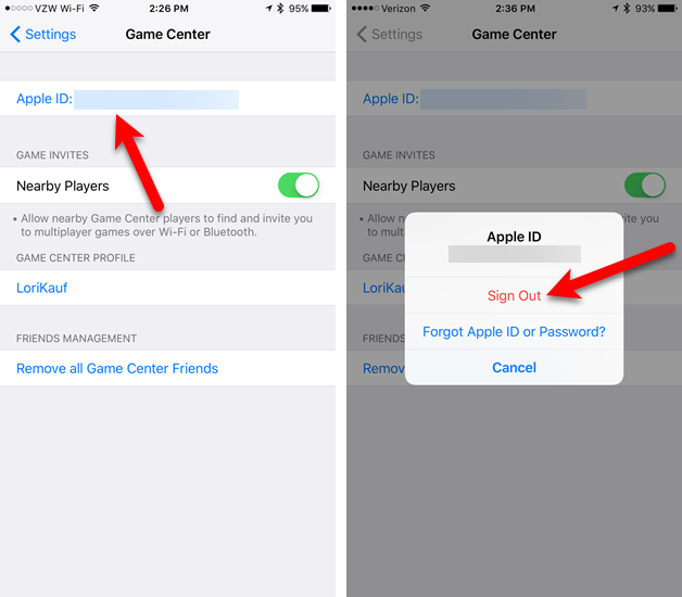 how to delete game pigeon ios 11