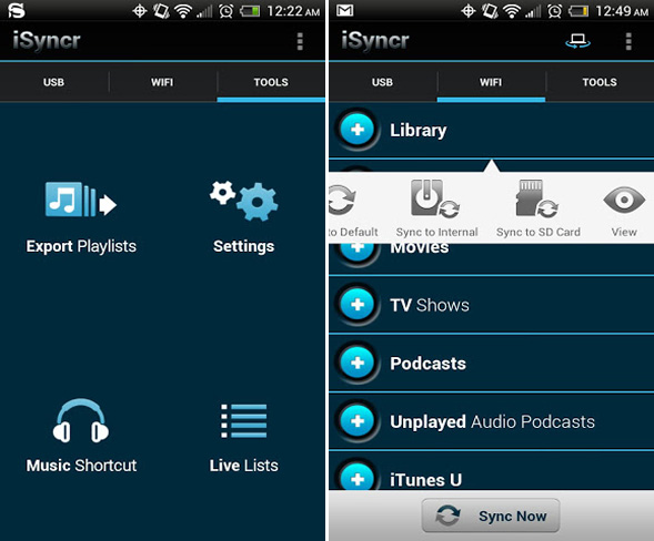 android-itunes-sync-isyncr