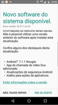 Moto X Play Android 7.1.1 Nougat