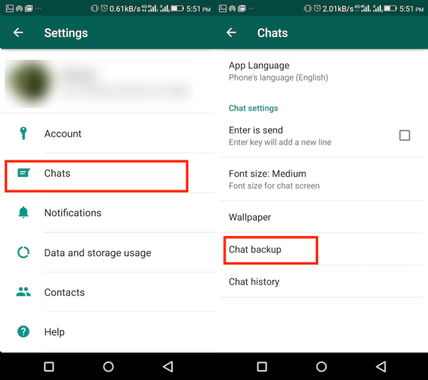 Turn Off WhatsApp Backup